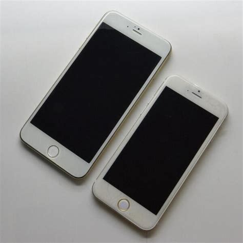 4 7 inch and 5 5 inch iphone 6 model depicted in new