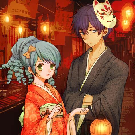 wallpaper rein shade festival mask yukata lantern