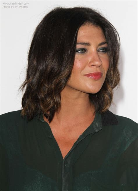 jessica szohr lob hairstyle  long