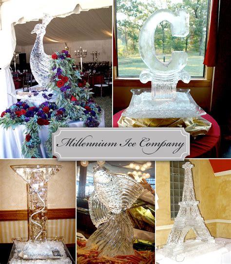 wedding ice sculptures  millennium ice