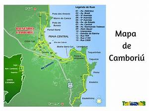 Mapa de Camboriú Turismo Brasil