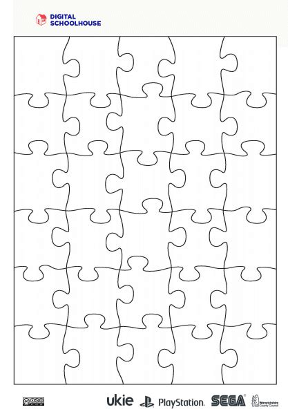 puzzle piece templates poster template