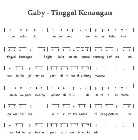 not angka isyana sarasvati tetap dalam jiwa not angka pianika tinggal kenangan gaby not angka pianika