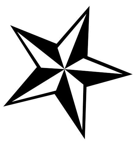stuning tribal star tattoos