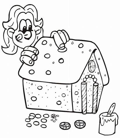Gingerbread Coloring Pages Decorating Printable