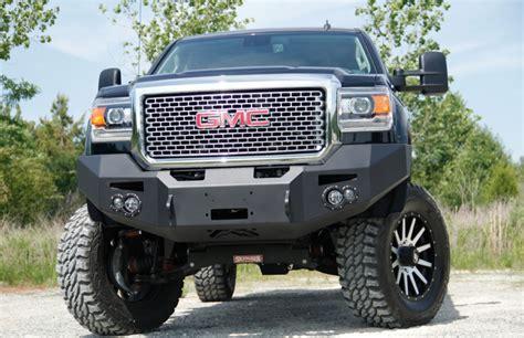 fab fours gm   winch front bumper gmc hd