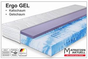 Matratzen Mit Gel : premium kaltschaum matratze ergo gel mit gelschaumauflage kaltschaum matratzen matratzen ~ Eleganceandgraceweddings.com Haus und Dekorationen