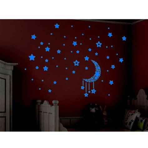 luminous glow in the diy stickers 3d moon