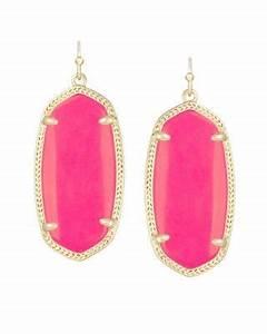 Elle Earrings in Neon Pink Kendra Scott Jewelry