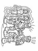 Coloring Squad Super Hero Printable Cartoon sketch template