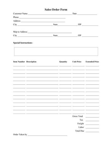 Order Form Template 40 Order Form Templates Work Order Change Order More