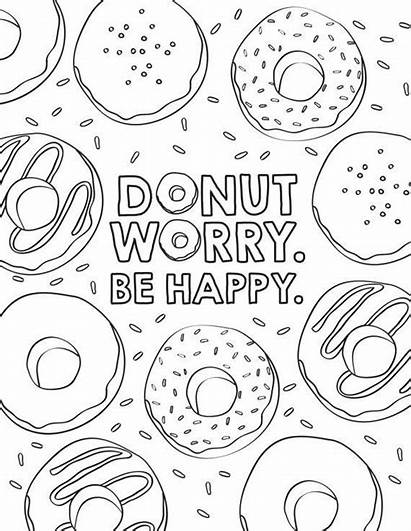 Donut Coloring Sheets Activity Favor Donuts Birthday