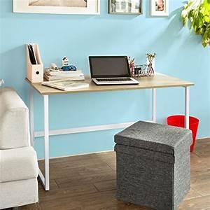 Plan De Travail Pour Bureau : sobuy fwt13 n bureau informatique plan de travail table ~ Dailycaller-alerts.com Idées de Décoration
