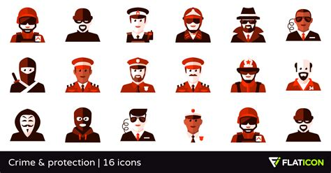 Crime & Protection 16 Premium Icons (svg, Eps, Psd, Png Files