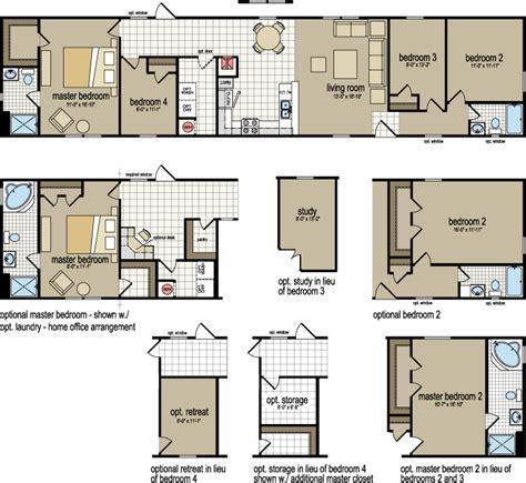 2 bedroom single wide mobile homes 4 bedroom mobile homes home design