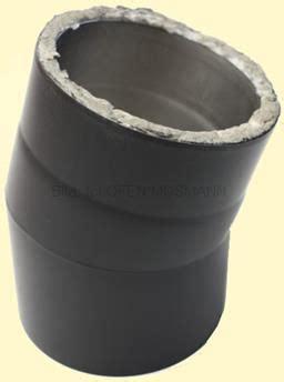 türrahmen ohne tür detailansicht doppelwandige ofenrohre dn 150 mm schwarz bei ofen mosmann doppelwandige