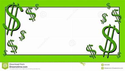 Dollar Clip Clipart Signs Money Cash Bills