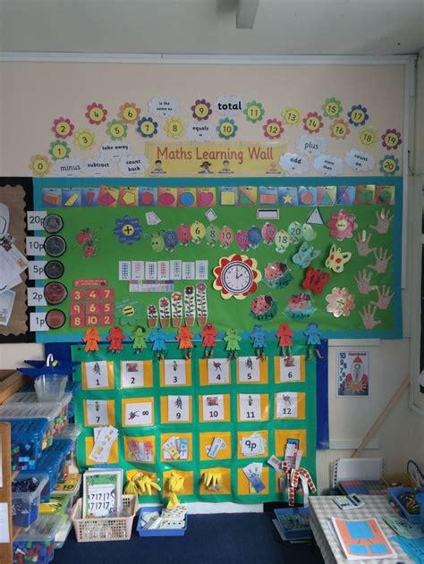 maths learning wall eyfs math classroom decorations