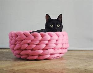 Chunky Knit Decke : extremely chunky pet beds knit by anna mo bored panda ~ Whattoseeinmadrid.com Haus und Dekorationen