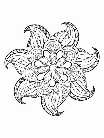 Mindfulness Coloring Pages Adult Mandala Printable Colouring