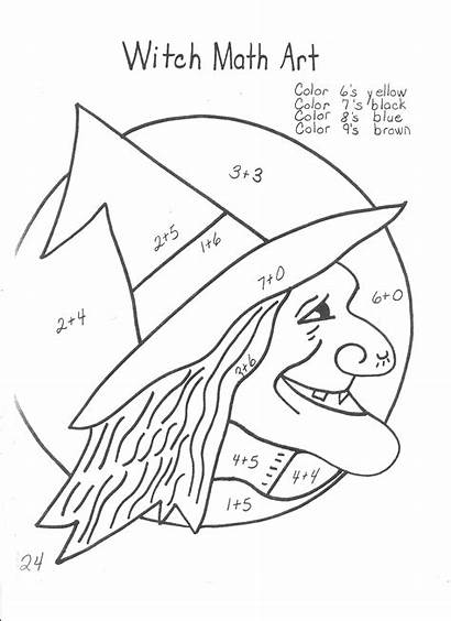 Halloween Math Worksheets Coloring Directions Following Worksheet
