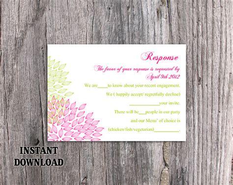 DIY Wedding RSVP Template Editable Word File Download Rsvp