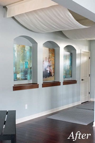 How To Drape A Ceiling With Fabric - ceiling drapes aglow unfinished basement ceiling window