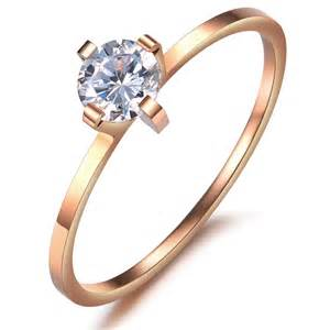 engagement ring with thin band 39 s engagement promise wedding band 1mm thin ring gold yoyoon 7242