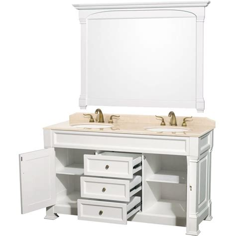 60 inch double sink vanity top wyndham collection andover 60 inch w double vanity in