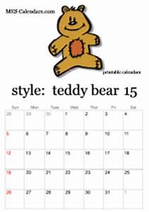 printable teddy bear calendars free online calendar With name the bear template
