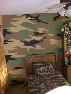 Camouflage Wall Mural  Sam's Room Makeover Pinterest