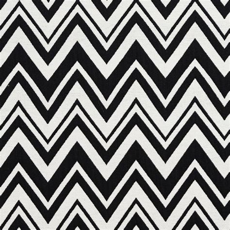 black  white chevron zig zag upholstery fabric