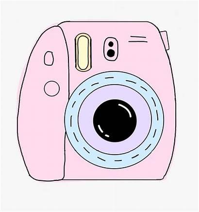 Camera Clipart Polaroid Aesthetic Pink Kawaii Clip