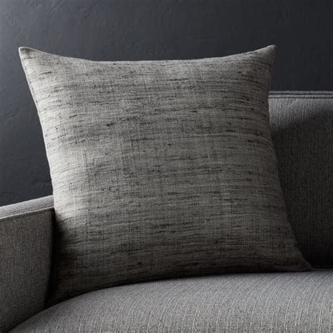 grey square pillow crate  barrel