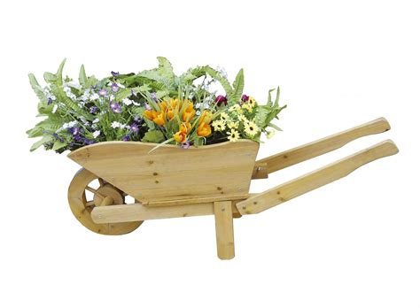 wooden wheelbarrow planter buydirect4u