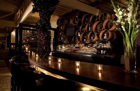 sophisticated  elegant bar interior design  red