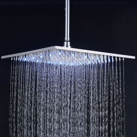 ceiling mount rainfall shower 12 inch square rainfall shower with ceiling mount
