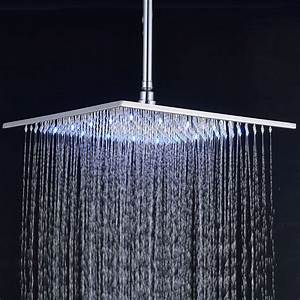 12-inch Square Rainfall Shower Head with Ceiling Mount ...
