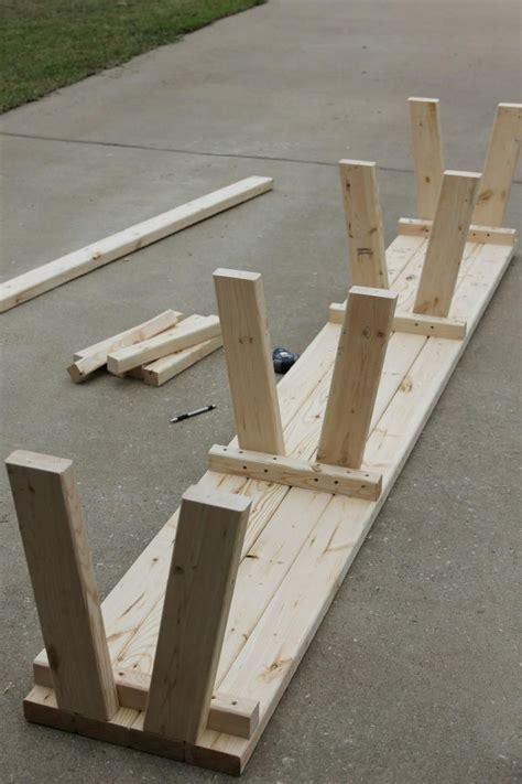 simple diy farmhouse bench tutorial  storage gotta