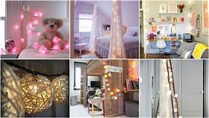 Kinderzimmer Dekorieren Tipps : schlafzimmer oder kinderzimmer mit lichterketten dekorieren ~ Markanthonyermac.com Haus und Dekorationen