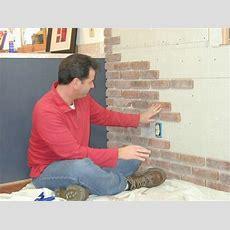 How To Install Interior Brick Veneer  Howto  Diy Network