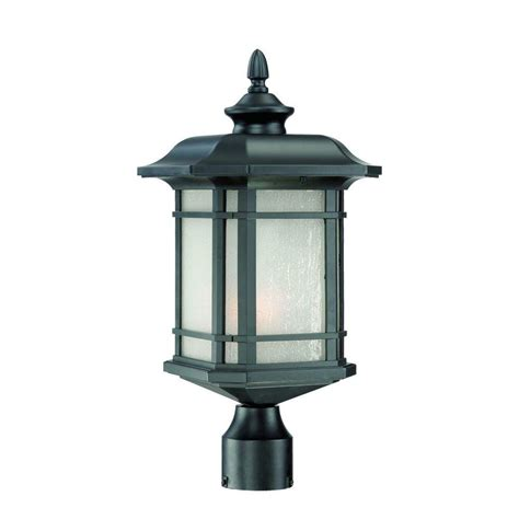 Backyard Lighting Home Depot by Acclaim Lighting Somerset 1 Light Matte Black Outdoor Post