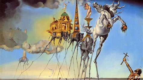 Salvador Dalí, Painting, Fantasy Art, Skull, War, Clocks