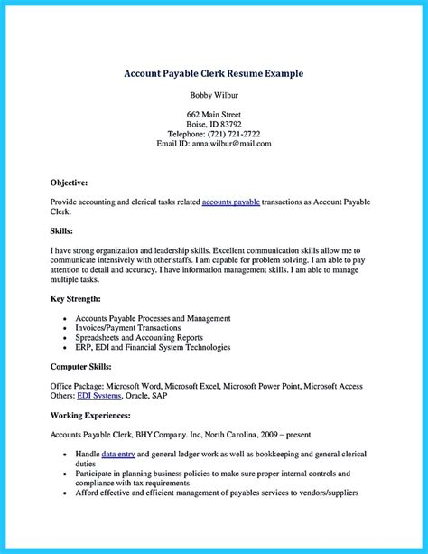 resume title for acounts payable best account payable resume sle collections