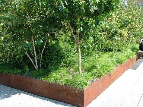 corten steel planter corten steel planter box landscaping pinterest