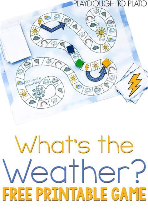 free printable weather playdough to plato 608 | weather game pin