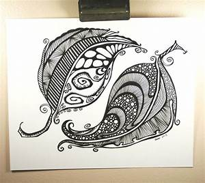 Abstract Feathers . Tattoo Art . Pen Drawing . Original
