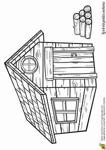 coloriage de la maison en bois de lhistoire des trois With maison brique et bois 1 quia les trois petits cochons 2