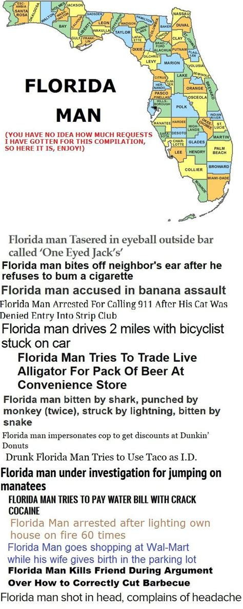 Florida Man Meme - florida man or as i like to call it 16 reasons why i ll never visit florida memes