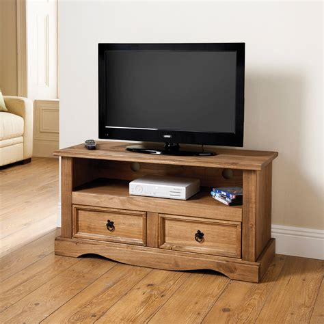 pine television 2 drawer media unit tv unit television cabinet